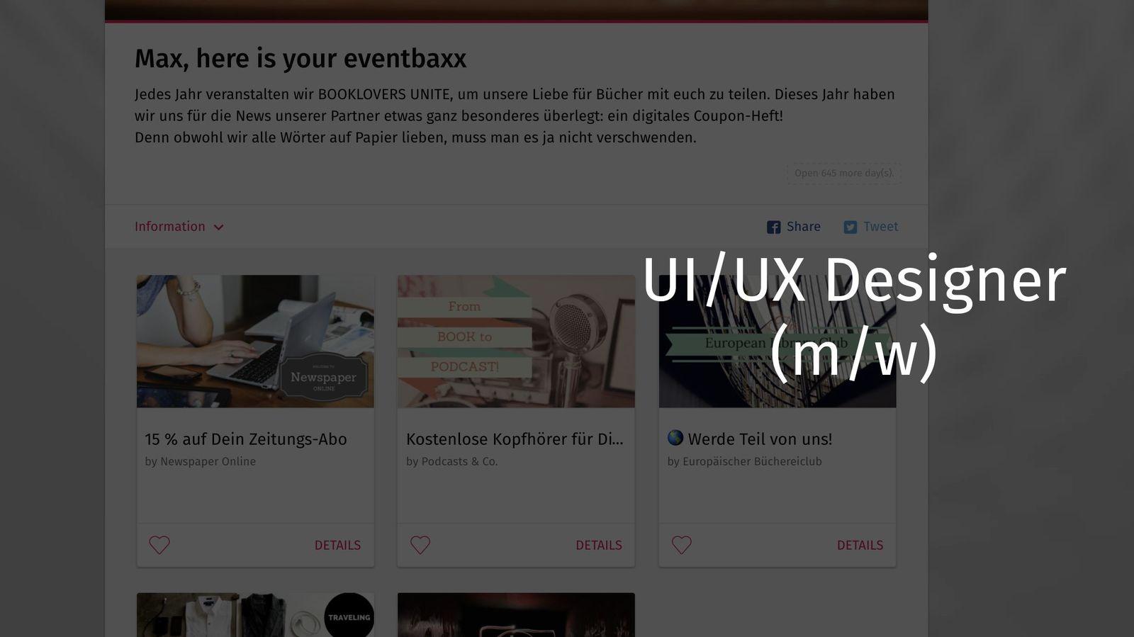 UI/UX-Designer (m/w)
