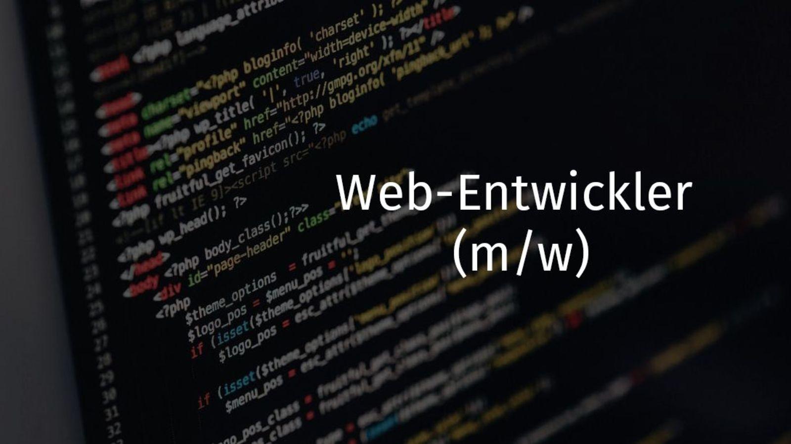 Web-Entwickler (m/w)